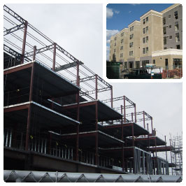 Construction and finished photos of Globe Mills project.