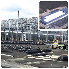 Construction and finished photos of Target Distribution Center project.