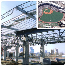 Construction and finished photos of Raley Field project.